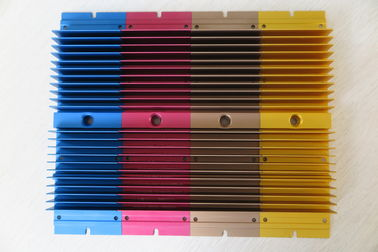 Colour Anodized Aluminium Heat Sink Profiles With CNC Milling Processing