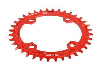 Red Anodized Bike Sprocket / Freewheel CNC Machining Parts for Road Bicycle